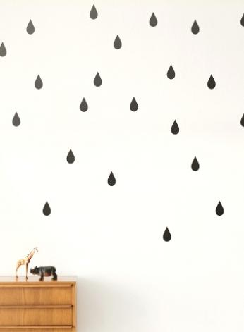 FERM LIVING KIDS - Ferm Living, Mini Drops Wallsticker, Sort