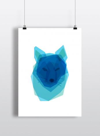 BY VOGT - By Vogt, Plakat Cousin Fox, A4
