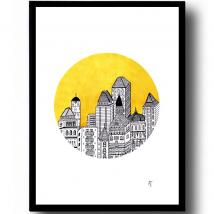A.T. DESIGNS - A.T. Designs, Plakat City In The Yellow, A3