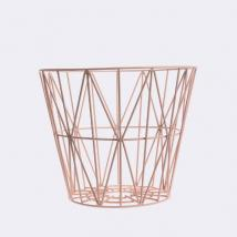 FERM LIVING - Ferm Living, Wire Basket Medium Rosa Kurv
