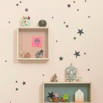 FERM LIVING KIDS - Ferm Living, Mini Stars Wallsticker, Sort