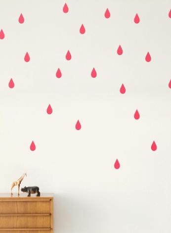 FERM LIVING KIDS - Ferm Living, Mini Drops Wallsticker, Neon