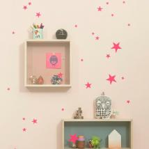 FERM LIVING KIDS - Ferm Living, Mini Stars Wallsticker, Neon