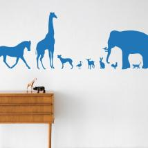 FERM LIVING KIDS - Ferm Living, Animal Farm Wallsticker, Blå